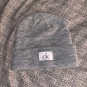 Calvin Klein beanie. Never worn but torn tags off